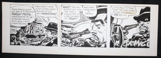 Johnny Hazard Daily Strip - LA - Darius at Gunpoint - 6/9/1971 Signed Comic Art