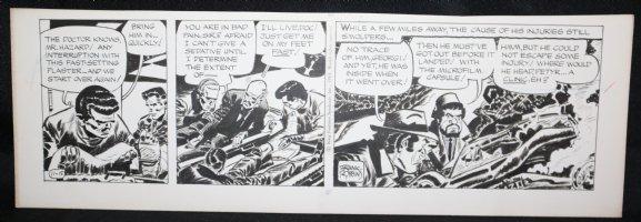 Johnny Hazard Daily Strip - Investigating the Crashed Jet - 11/15/1969 Signed  Comic Art