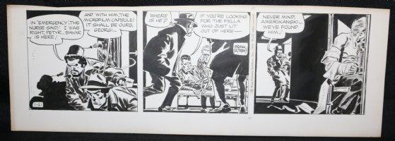 Johnny Hazard Daily Strip - Hospital Chase - 11/21/1969 Signed  Comic Art