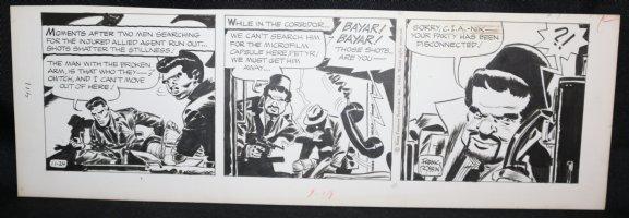 Johnny Hazard Daily Strip - ''Sorry C.I.A.-Nik'' - 11/24/1969 Signed  Comic Art