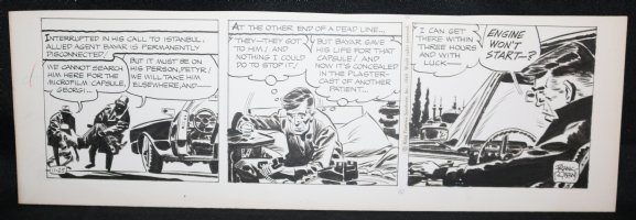 Johnny Hazard Daily Strip - Bayer Abducted by Russian Agents - 11/25/1969 Signed  Comic Art
