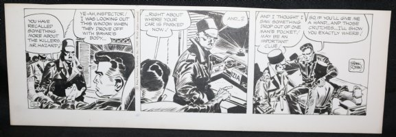 Johnny Hazard Daily Strip - Johnny Carried out of Hospital Bed - 12/3/1969 Signed  Comic Art