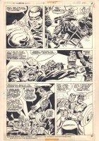 Captain America #185 p.22 - Captain America, Falcon, and Red Skull - 1975 Comic Art