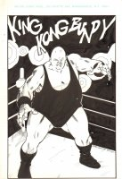 King Kong Bundy from the World Wrestling Federation - Signed Comic Art