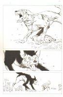 God the Dyslexic Dog p.16 Dog Fight Comic Art