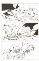 God the Dyslexic Dog p.18 Dog Fight Comic Art
