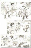 God the Dyslexic Dog p.22 Kids Playing - Pencil Comic Art