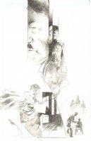 God the Dyslexic Dog p.52 Hitler & Frog-Boy Pencil Comic Art