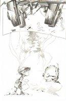 God the Dyslexic Dog p.11 Kid vs Truck Splash - Pencil Comic Art
