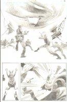 God the Dyslexic Dog p.42 Nazi Balloon vs Alien - Pencil Comic Art