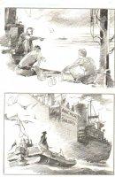 God the Dyslexic Dog p.45 Sailors - Pencil Comic Art