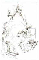 God the Dyslexic Dog p.06 Montage Splash - Pencil Comic Art