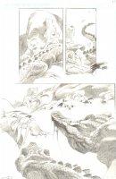 God the Dyslexic Dog p.66 Sabertooth Tiger vs Alligator  - Pencil Comic Art