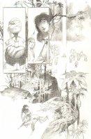 God the Dyslexic Dog p.82 Frog-Mummy & Sexy Brunette - Pencil Comic Art