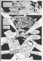 1994 #12 p.18 Sci-Fi Aliens Splash Comic Art