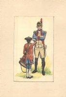 Revolutionary War Officer and Drummer Boy Color Art - Late 50's Comic Art