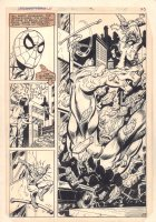 Marvel Team-Up #119 p.17 - Spider-Man Action vs. Wizard and Monster - 1982  Comic Art
