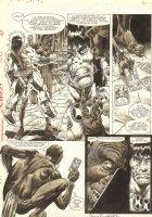 Savage Sword of Conan, The #176 p.41 - Conan vs. Tarot Witch Doctor - 1990 Signed Comic Art