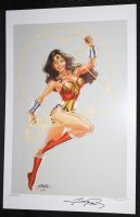 Wonder Woman with Lasso Full Figure Print - 5 Available - Signed Comic Art