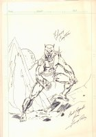 Man Wolf (Spider-Man Villain) Commission - Signed Comic Art