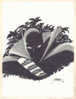 Black Panther Bust - 2008 Signed Comic Art