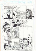 Avengers #12 p.35 - Vision, Scarlet Witch, Wonder Man, and Captain Ameerica - 1999 Signed  Comic Art