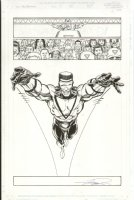 Avengers #15 p.1 Triathalon 1st panel appearance - Signed Comic Art