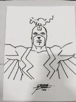 Black Bolt from the Inhumans Sketch - 2015 Signed Comic Art