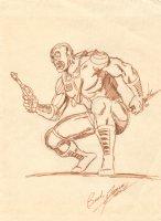 Deathlok Vintage Sketch - Signed Comic Art