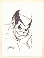 Beast from the X-Men Bust Drawing - Signed Comic Art