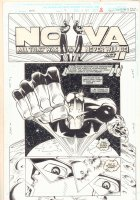 Nova #7 p.1 - 'All That Was & Never Will Be Act II' Title Splash - 1994 Comic Art