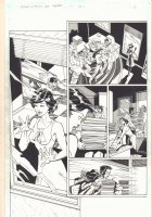 Legends of the DCU (Superman) Pt.1 p.3 - Superman Flies in on Lois and Changes to Clark Kent - 1998 Signed Comic Art