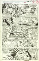 Web of Spider-Man #83 p.17 Hypertron Action! - Signed Comic Art