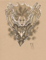Phoenix from the X-Men Beautiful Ink Wash Commission - Signed Comic Art