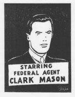 Federal Agent Clark Mason 11x14 Comic Art