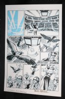 L.A. King #1 p.1 - Orpheus Awards - Blue Line Ink Art Only of Sal Velluto Pencils - Signed Comic Art