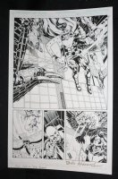 L.A. King #1 p.3 - Armored Knight Splash - Blue Line Ink Art Only of Sal Velluto Pencils - Signed Comic Art