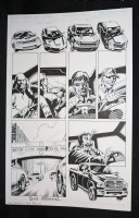 Red Wing #1 p.1 - Drivers in Race - Blue Line Ink Art Only of Sal Velluto Pencils - Signed Comic Art
