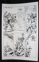 Senator #1 p.2 - Villain and Hostages Saved - Blue Line Ink Art Only of Sal Velluto Pencils - Signed Comic Art