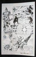 Senator #1 p.5 - Hero Defeats Villain - Blue Line Ink Art Only of Sal Velluto Pencils - Signed Comic Art