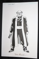 L.A. King Villain Study - Blue Line Ink Art Only of Sal Velluto Pencils - Signed Comic Art