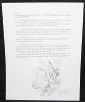 Amazing Spider-Man #1.3 Cover Prelim Drawing on Script Page - 2014 Signed Comic Art