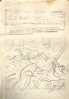 Captain Action p.1 A Mind Divided Title Splash - Pencil Prelim Signed Comic Art