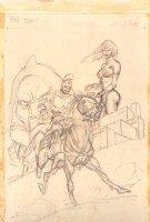 Giant-Size Conan #4 p. 30 Prelim Splash - Hot Half Naked Babe - 1975 Comic Art
