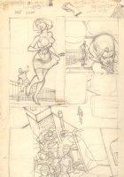 Green Lantern Interior Pencil Prelim #69  p.11 - Hal Jordan and Carol Farris Comic Art