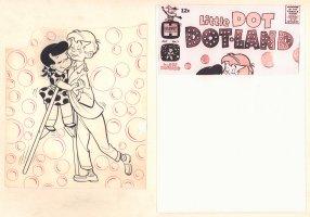 Little Dot Dotland #1 Cover - Slow Dancing - 1962  Comic Art