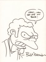 Moe the Simpsons ''Okay, now get off my back!'' - Signed Comic Art