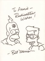 Radioactive Man and Fallout Boy from The Simpsons - Signed Comic Art
