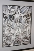 Wonder Woman, Elektra, Catwoman, Superman, Batman, Daredevil Poster Size Commission - Signed