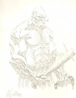 Absorbing Man Pencil Commission - 2001 Signed Comic Art